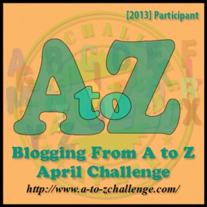 A to Z Challenge 2013 badge