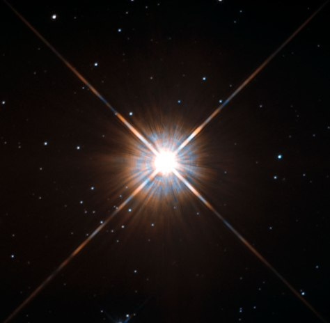 Proxima Centauri, as seen through the Hubble Telescope (source: Wikipedia)