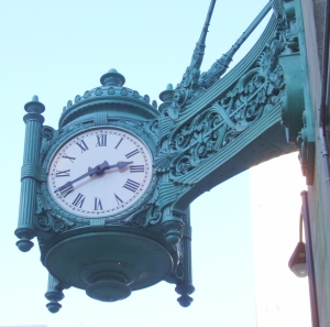The Clock at Marshall Field's (source: Wikimedia Commons)